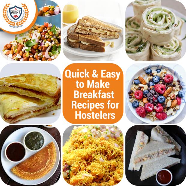 Breakfast Recipes for Hostelers